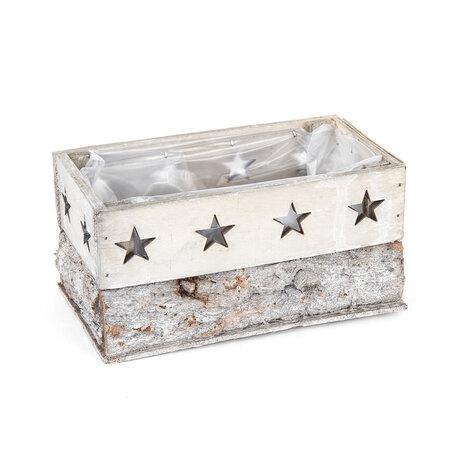 Truhlík Dřevo s hvězdičkami, šedá