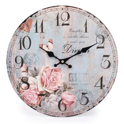 Nástěnné hodiny Růžový sen