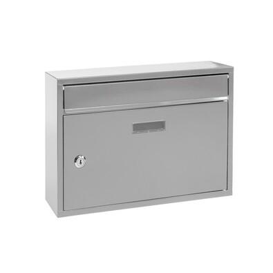 Poštovní ocelová schránka Terni, stříbrná