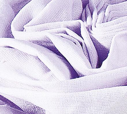Plátěné prostěradlo na gumu, fialová, 90 x 200 cm