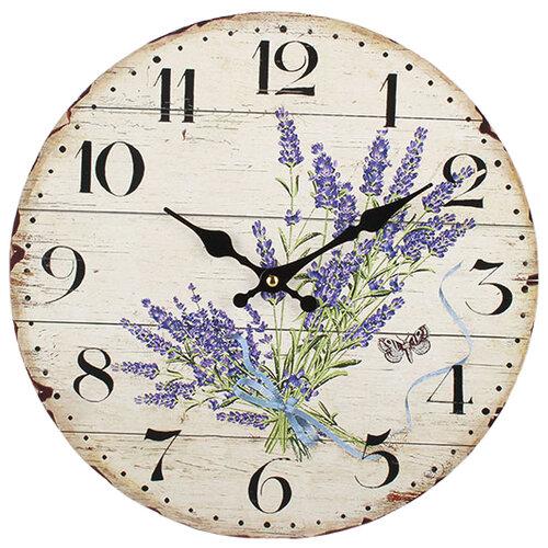 DAKLS Nástenné hodiny Levanduľa, pr. 34 cm