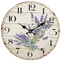 Nástenné hodiny Levanduľa, pr. 34 cm