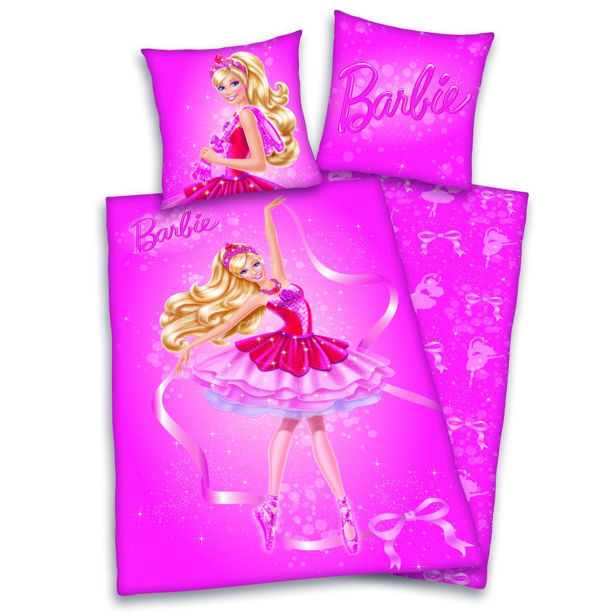 Herding Detské bavlnené obliečky Barbie, 140 x 200 cm, 70 x 90 cm
