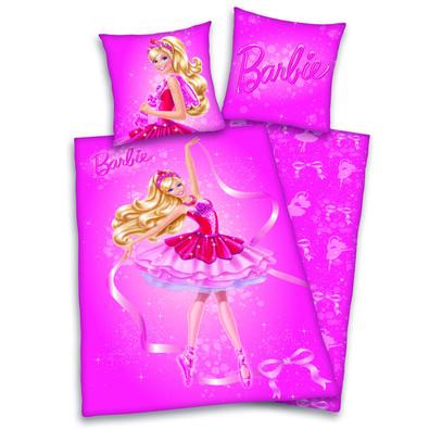 Dětské bavlněné povlečení Barbie, 140 x 200 cm, 70 x 90 cm