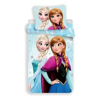 Lenjerie de pat Regatul de gheață, pentru copii Frozen light blue, 140 x 200, 70 x 90 cm