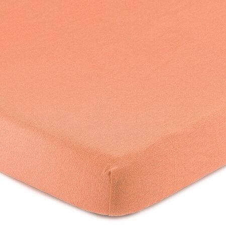 4Home Jersey prostěradlo s elastanem lososová, 90 x 200 cm