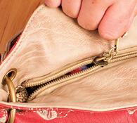 Dámská luxusní kabelka, oranžová