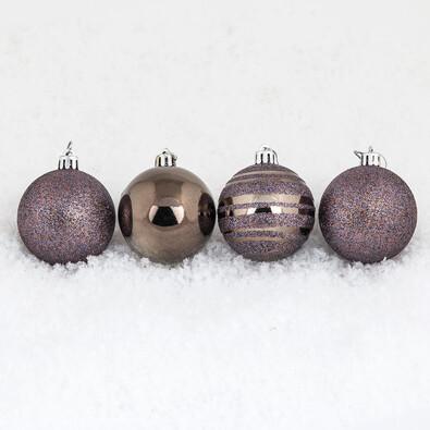 Vánoční koule 10 ks tmavě měděná