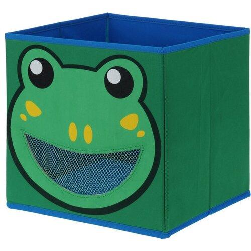 Textilní úložný box Žabka, 28 x 28 x 28 cm