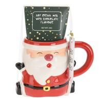 Cană ceramică cu ciocolată Santa, 250 ml