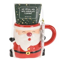 Kubek ceramiczny z czekoladą Mikołaj, 250 ml