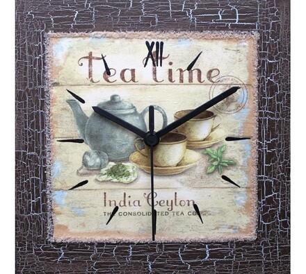 Dekorativní nástěnné hodiny Tea Time