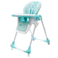 New Baby Jedálenská stolička Minty Fox - ekokoža s vložkou pre bábätká