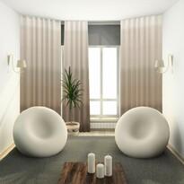 Darking függöny karikákkal bézs színű, 140 x 245 cm