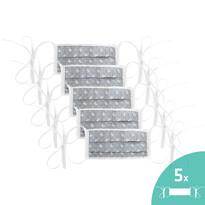 Ústní bavlněná rouška Sanybetka s tkanicemi na zavázání, sada 5 ks, univerzální velikost