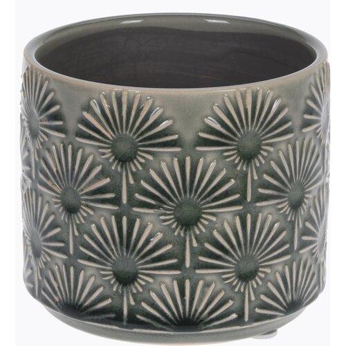 Keramický obal na květináč Campello šedá, pr. 10 cm