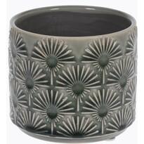 Keramický obal na kvetináč Campello sivá, pr. 10 cm