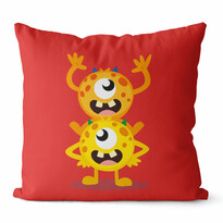 Domarex Poszewka na poduszkę Kids Robaki czerwony, 45 x 45 cm