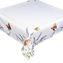Față de masă Fluturi și lavandă, 85 x 85 cm