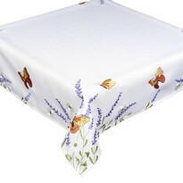 Obrus Motýle a levanduľa, 85 x 85 cm