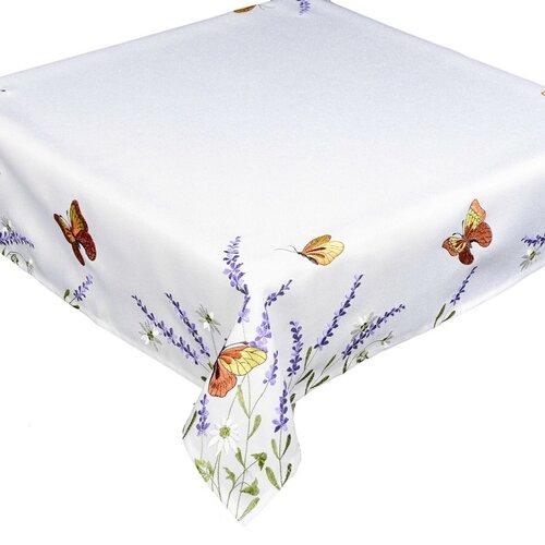 Pillangók és levendula abrosz, 85 x 85 cm