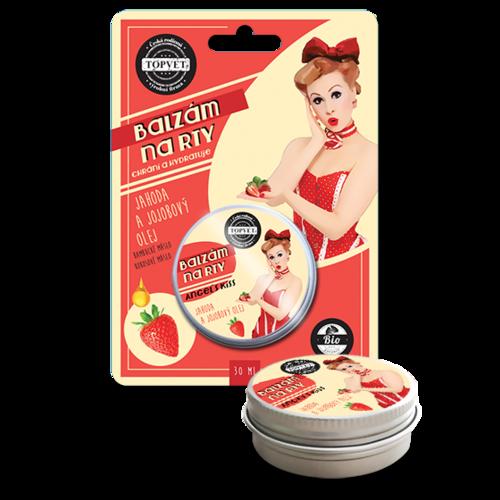 Balzam na pery jahoda a jojobový olej 30 ml, Topvet