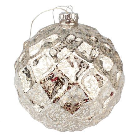 Vianočná svietiaca ozdoba Trivento, strieborná