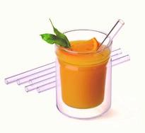 Zestaw szklanych słomek ze szczoteczką do czyszczenia, proste 15cm, 6szt.