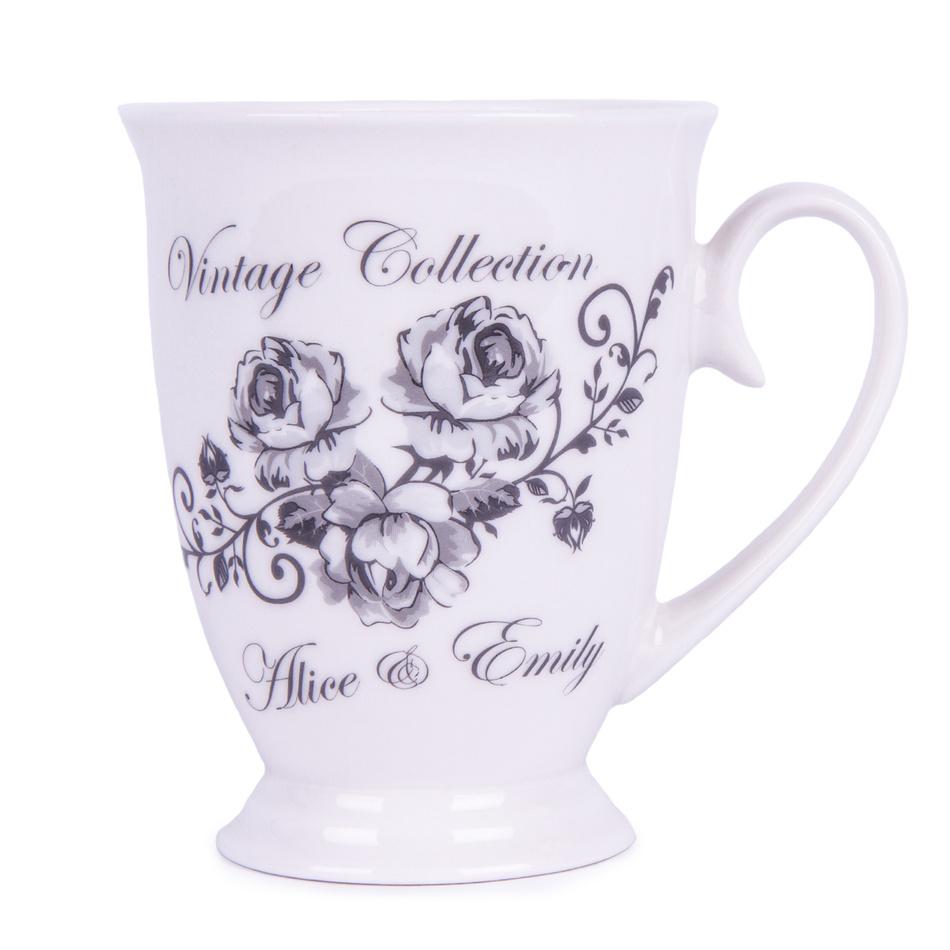 Hrnek Emily 300 ml, květiny, porcelán