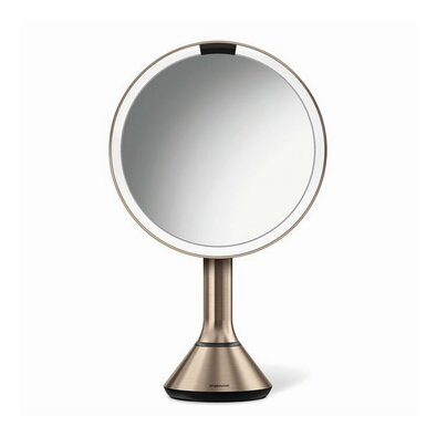 Simplehuman Zrkadlo dobíjacie Sensor pr. 20 cm, rosegold