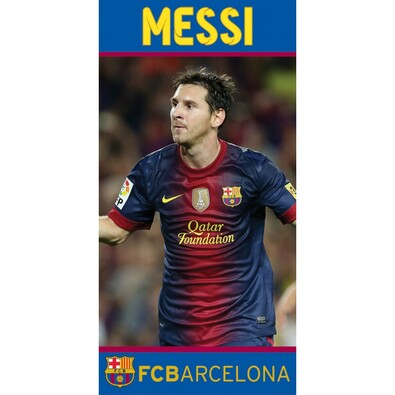 Osuška FC Barcelona Messi, 70 x 140 cm