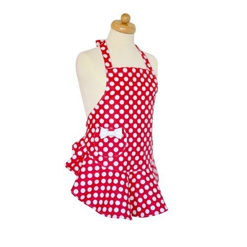 Elegancia a konyhában, Gyermek kötény, piros, 47 x 53 cm