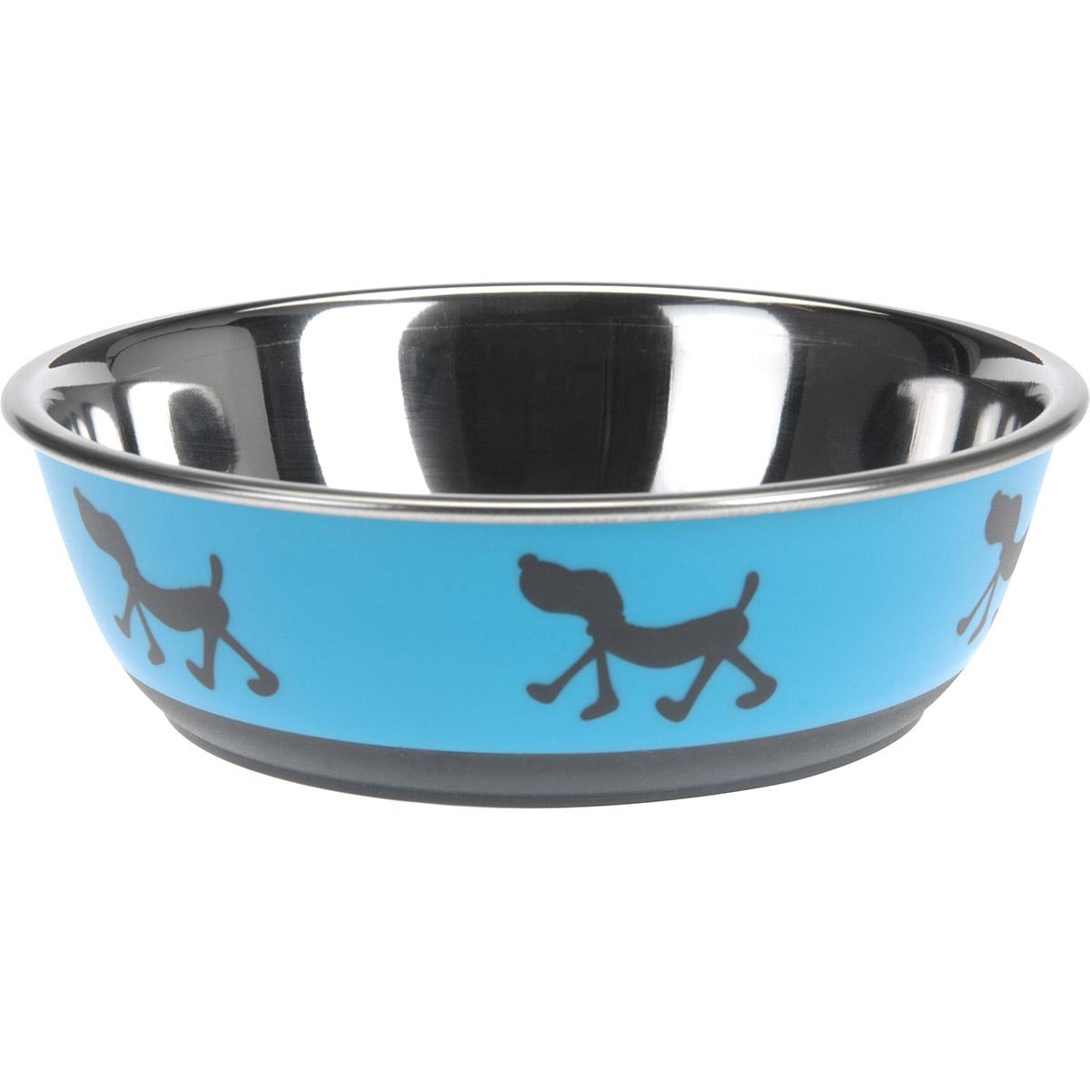 Fotografie Miska pro psa Doggie treat modrá, pr. 17,5 cm