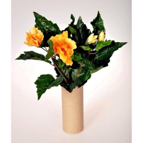 Umělá květina Ibišek svazek žlutá, 35 cm