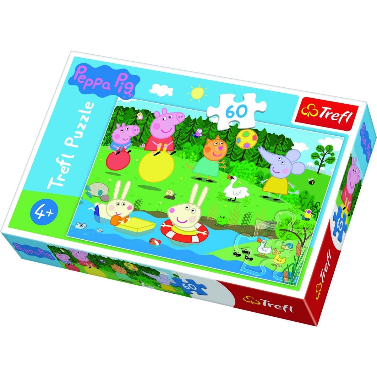 Trefl Puzzle Prasátko Peppa u rybníka 60 dílků