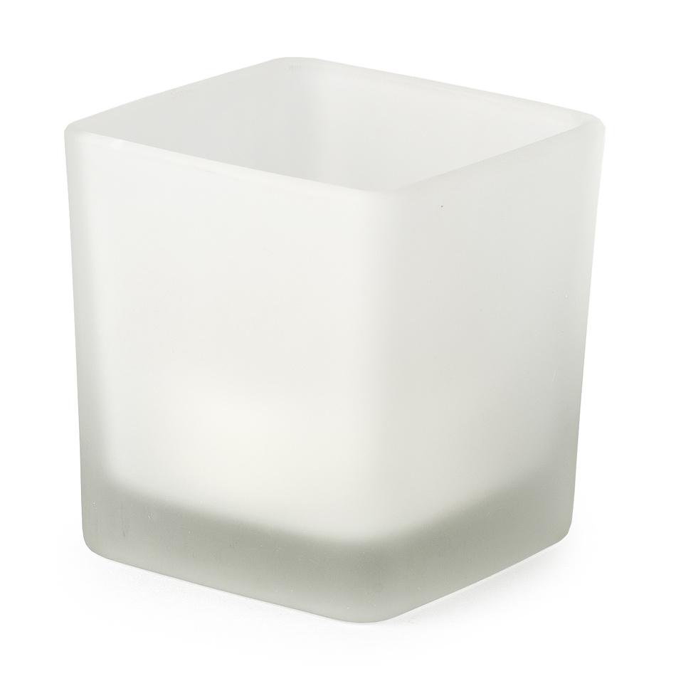 LED sklenený svietnik 7,5 x 8 cm