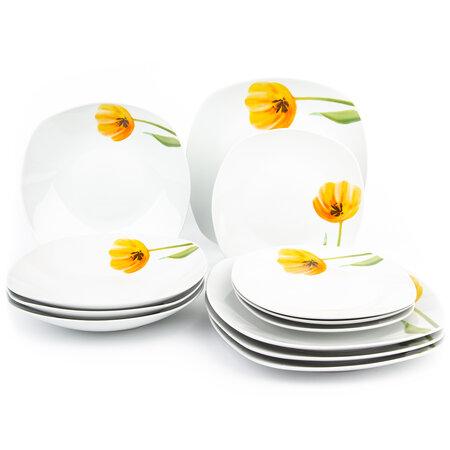 Domestic Tulip 12 részes tányérkészlet
