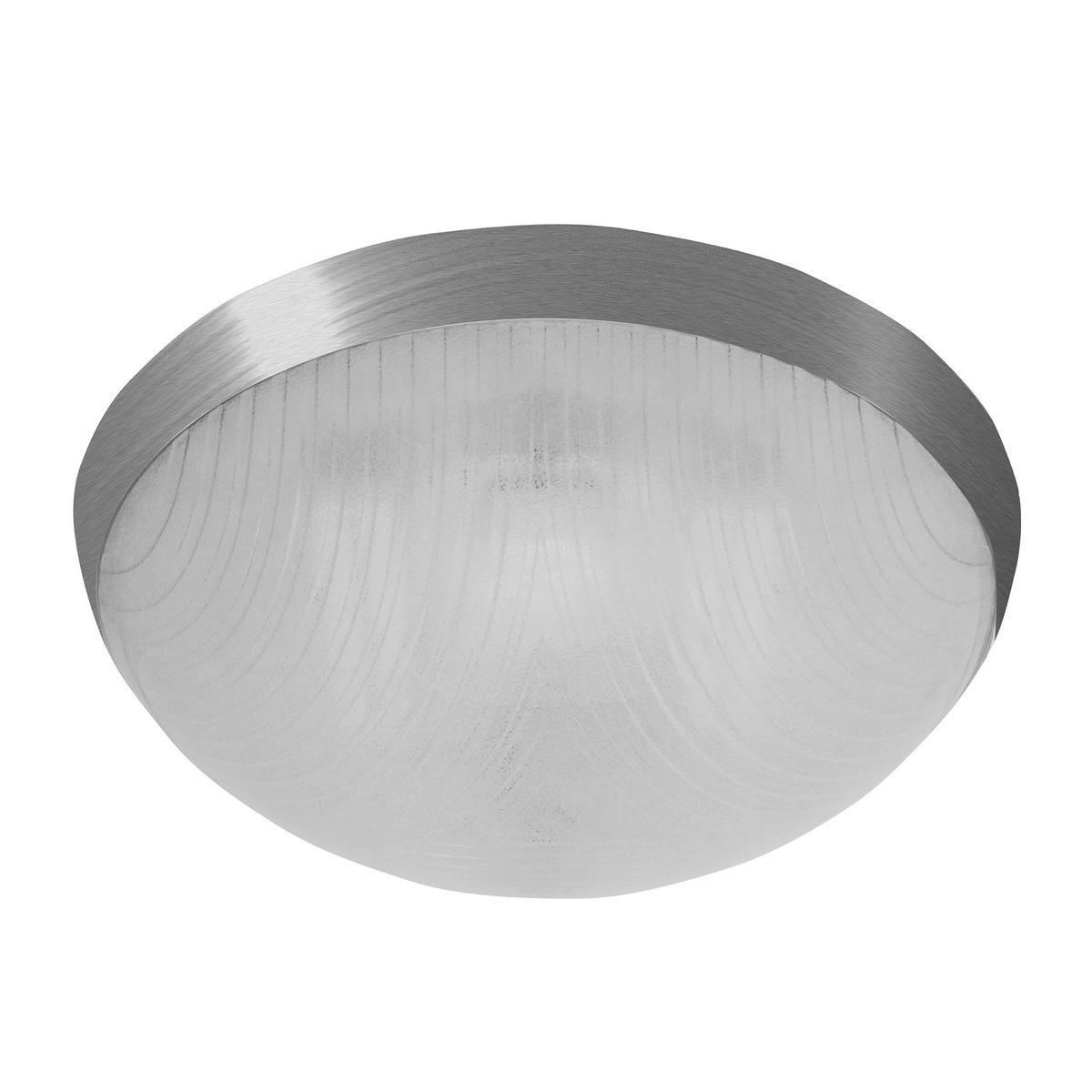 GALIA prisazené stropné a nástenné kruhové svetlo, 75W, strieborná, Panlux