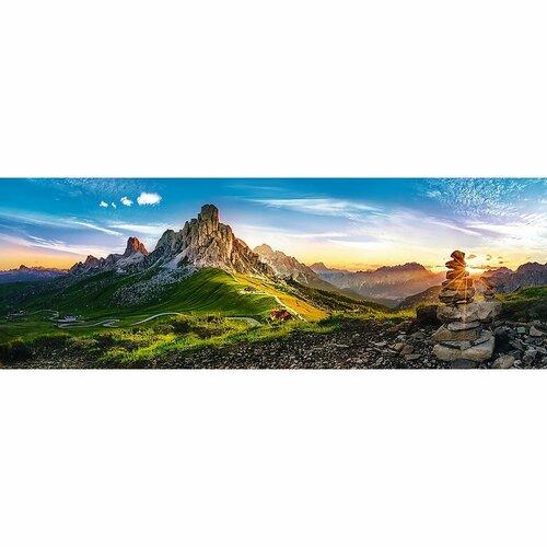 Puzzle TREFL Panoramatické Passo di Giau Dolomity 1000 dílků