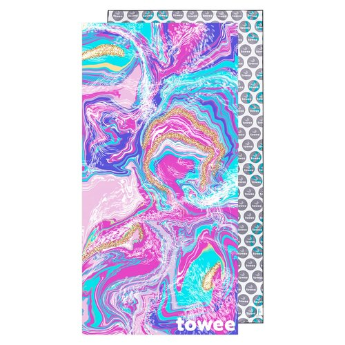 Towee Prosop uscare rapidă MARBLE, 80 x 160 cm