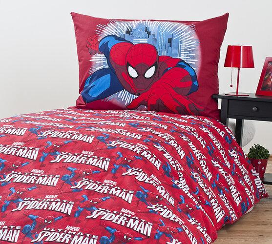 Dziecięca pościel bawełniana Spiderman, 140 x 200 cm, 70 x 90 cm