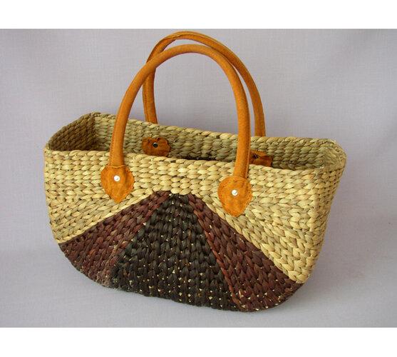 Nákupní taška pletená, 40 x 17 x 23 / 39 cm