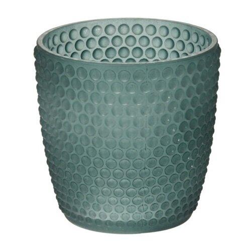 Svietnik na čajovú sviečku Durango zelená, 7,5 x 7,5 cm