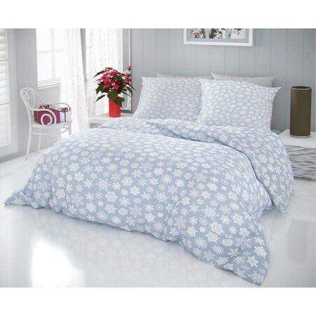 Kvalitex Hópelyhek pamut ágynemű, szürke, 140 x 220 cm, 70 x 90 cm