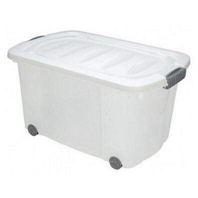 Kaiserhoff Úložný box pojízdný bílá 45 l