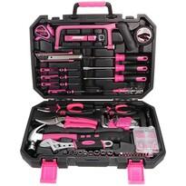 Sixtol szerszámkészlet Home Pink, 128 db-os