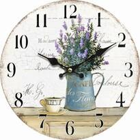 Ceas de perete, din lemn, Lavender café, diam. 34  cm