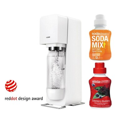 Sodastream Výrobník sody SOURCE White new,2 sirupy