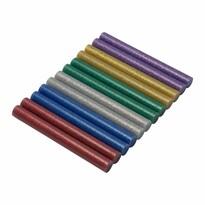 Asist 71-3208 olvadékpatronok, 12 db, 11 mm, színes, csillámokkal