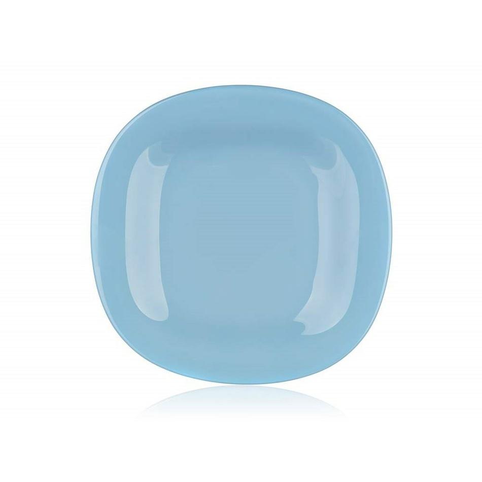 Luminarc Hranatý dezertní talíř CARINE 19 cm, 6 ks, modrá